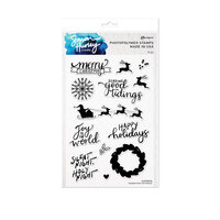 Ranger Ink - Simon Hurley - Clear Photopolymer Stamps - Handwritten Christmas