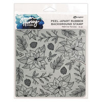 Ranger Ink - Simon Hurley - Cling Mounted Rubber Stamps - Festive Florals