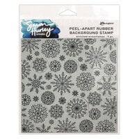 Ranger Ink - Simon Hurley - Cling Mounted Rubber Stamps - Stitched Snowflakes