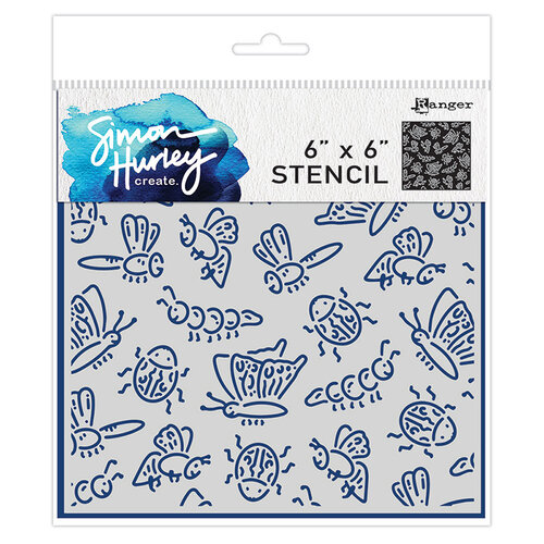 Ranger Ink - Simon Hurley - 6 x 6 Stencils - Cordial Critters