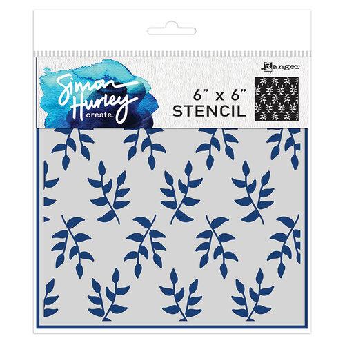 Ranger Ink - Simon Hurley - 6 x 6 Stencils - Leafy Greens