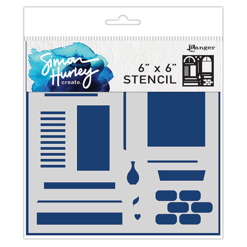Ranger Ink - Simon Hurley - 6 x 6 Stencils - Window Maker