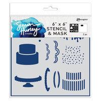 Ranger Ink - Simon Hurley - 6 x 6 Stencil and Mask - Cake Maker