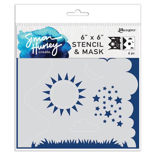 Ranger Ink - Simon Hurley - 6 x 6 Stencil and Mask - Scene Maker