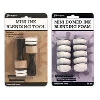 Ranger Ink - Tim Holtz - Mini Ink Blending Tool and Replacement Foam Bundle - Domed