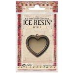 Ranger Ink - ICE Resin - Milan Bezels - Heart - Medium - Antique Bronze