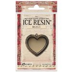 Ranger Ink - ICE Resin - Milan Bezels - Heart - Large - Antique Bronze
