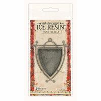 Ranger Ink - ICE Resin - Rune Bezels - Shield - Antique Silver