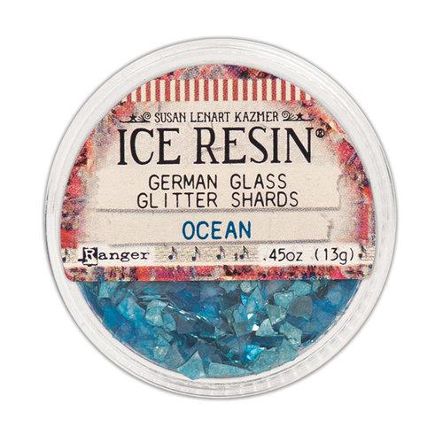 Ranger Ink - ICE Resin - Glass Glitter Shards - Ocean