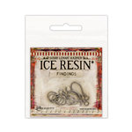 Ranger Ink - ICE Resin - Findings - S-Hooks and Jump Rings - Antique Silver