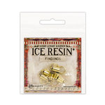 Ranger Ink - ICE Resin - Findings - End Caps and Jump Rings - Antique Bronze - 6mm