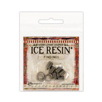 Ranger Ink - ICE Resin - Findings - End Caps and Jump Rings - Antique Silver - 6mm