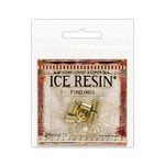 Ranger Ink - ICE Resin - Findings - End Caps and Jump Rings - Antique Bronze - 7mm
