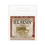 Ranger Ink - ICE Resin - Findings - End Caps and Jump Rings - Antique Bronze - 8mm