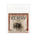 Ranger Ink - ICE Resin - Findings - End Caps and Jump Rings - Antique Silver - 8mm