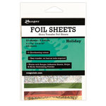 Ranger Ink - Foil Sheets - Holiday - 10 Sheets