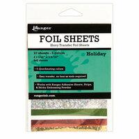 Ranger Ink - Foil Sheets - Holiday - 10 Sheets
