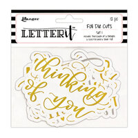 Ranger Ink - Letter It Collection - Foil Die Cuts - Set 1