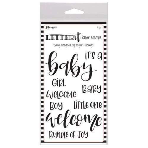 Ranger Ink - Letter It Collection - Clear Acrylic Stamps - Baby