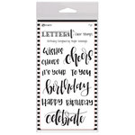 Ranger Ink - Letter It Collection - Clear Acrylic Stamps - Birthday