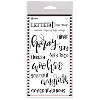 Ranger Ink - Letter It Collection - Clear Acrylic Stamps - Celebration