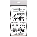 Ranger Ink - Letter It Collection - Clear Acrylic Stamps - Thank You