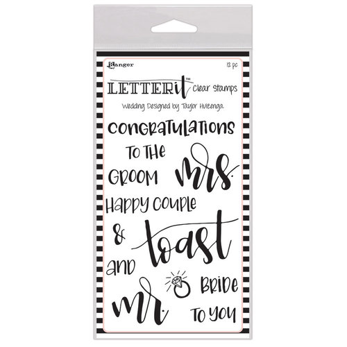 Ranger Ink - Letter It Collection - Clear Acrylic Stamps - Wedding