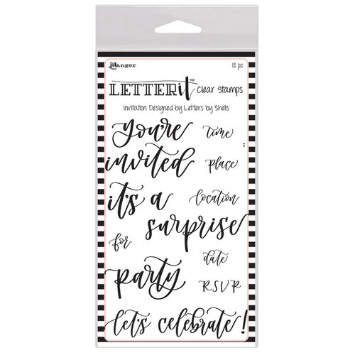 Ranger Ink - Letter It Collection - Clear Acrylic Stamps - Invitation