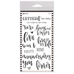 Ranger Ink - Letter It Collection - Clear Acrylic Stamps - Loves
