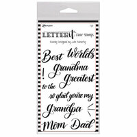 Ranger Ink - Letter It Collection - Clear Acrylic Stamps - Family
