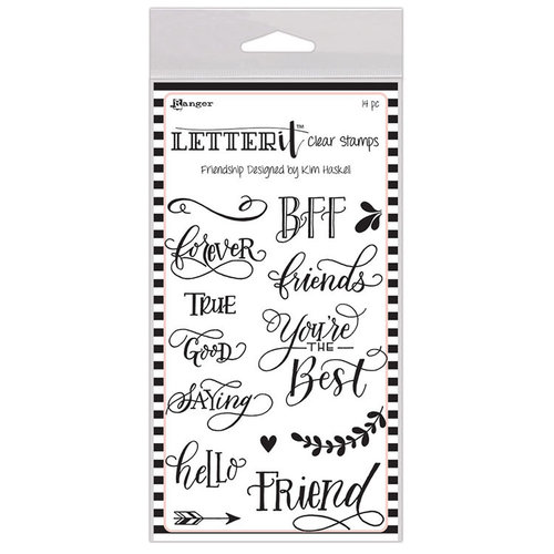 Ranger Ink - Letter It Collection - Clear Acrylic Stamps - Friendship