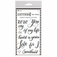 Ranger Ink - Letter It Collection - Clear Acrylic Stamps - Sweetheart