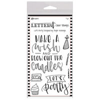 Ranger Ink - Letter It Collection - Clear Acrylic Stamps -Let's Party
