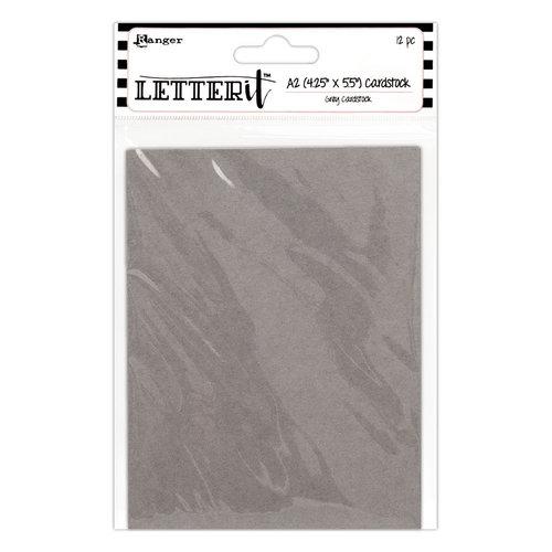 Ranger Ink - Letter It Collection - Cardstock - Grey - 12 Pack