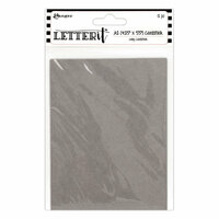 Ranger Ink - Letter It Collection - Cardstock - Grey - 12 Pack