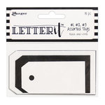 Ranger Ink - Letter It Collection - Tag Assortment - Black and White
