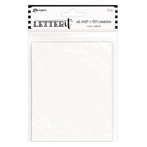 Ranger Ink - Letter It Collection - Cardstock - White - 12 Pack