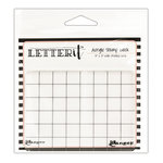 Ranger Ink - Letter It Collection - Acrylic Stamping Block - 4 x 3