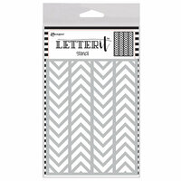 Ranger Ink - Letter It Collection - Background Stencil - Alternating Chevrons