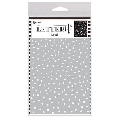 Ranger Ink - Letter It Collection - Background Stencil - Dancing Dots