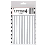 Ranger Ink - Letter It Collection - Background Stencil - Organic Stripes