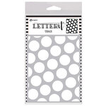 Ranger Ink - Letter It Collection - Background Stencil - Polka Dotting