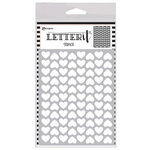 Ranger Ink - Letter It Collection - Background Stencil - Treading Hearts