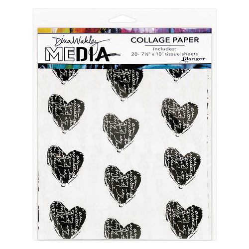 Ranger Ink - Dina Wakley Media - Collage Paper - 7.5 x 10 - 10 Pack