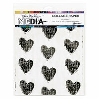Ranger Ink - Dina Wakley Media - Collage Paper - 7.5 x 10 - 10 Pack
