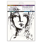 Ranger Ink - Dina Wakley Media - Collage Paper - 7.5 x 10 - Faces - 20 Pack