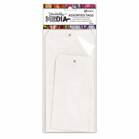 Ranger Ink - Dina Wakley Media - White Tag - Sizes Number 8 and 10