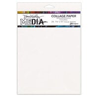 Ranger Ink - Dina Wakley Media - Collage Paper - 7.5 x 10 - Plain - 20 Pack