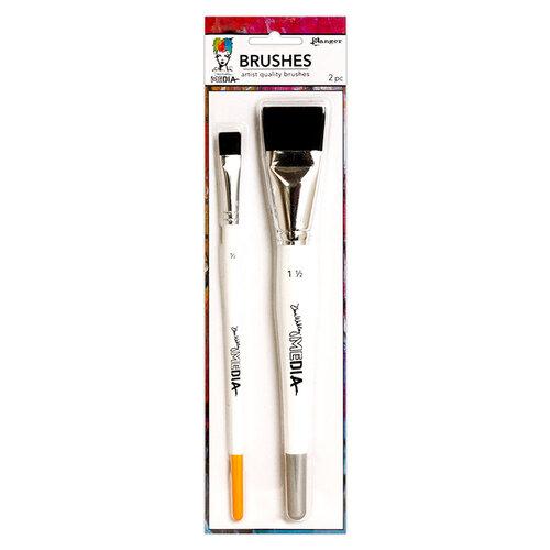 Ranger Ink - Dina Wakley Media - Synthetic Bristle Brush - 2 Pack