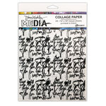 Ranger Ink - Dina Wakley Media - Collage Paper Just Words - 7.5 x 10 - Just Words - 20 Pack